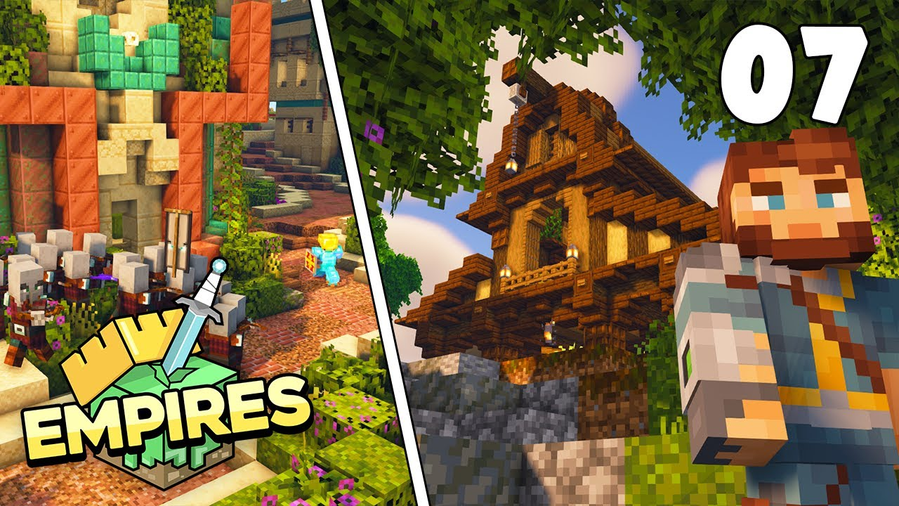Empires SMP - New Village Barn & Battle Plans!!! - Ep.7 [Minecraft 1.17 Survival]