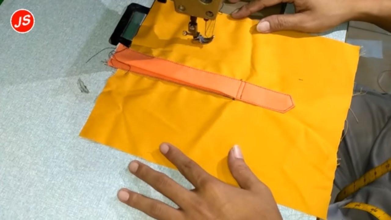 Menjahit Belahan Tempat Kancing Depan Pada Pakaian 1 Youtube Koko Anak Usia 7 Tahun Orange Model 2