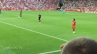 Anfield Rocks The Mo Salah Song After His Wonder Goal   Liverpool vs Arsenal 3 1   MO LFC TV FanCam