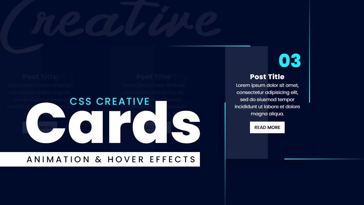 CSS Creative Cards Animation and Hover Effects | CSS Snake Border Animation