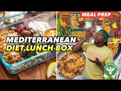 Meal Prep: Mediterranean Diet Red Pepper Chicken Lunch Box