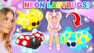Making ALL The *NEW* LADYBUGS *NEON* In Adopt Me! (Roblox)