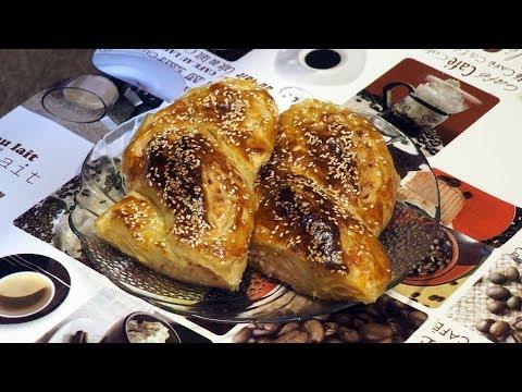 слоёная косичка с сыром и куриной ветчиной - рецепты выпечки