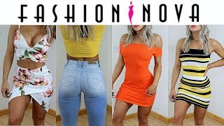 fashion nova spring haul try on valerie pac
