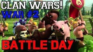 2 Successful 3-Star Raids!   Clash of Clans: CLAN WAR #2 Battle Day!