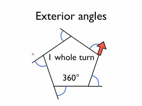 Angles in polygons exterior angles youtube for Exterior angles of a polygon formula