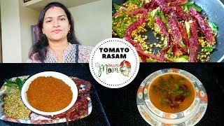 Indian Mom Lunch Routine Vlog || Rasam Powder Recipe || Tomato Rasam Recipe