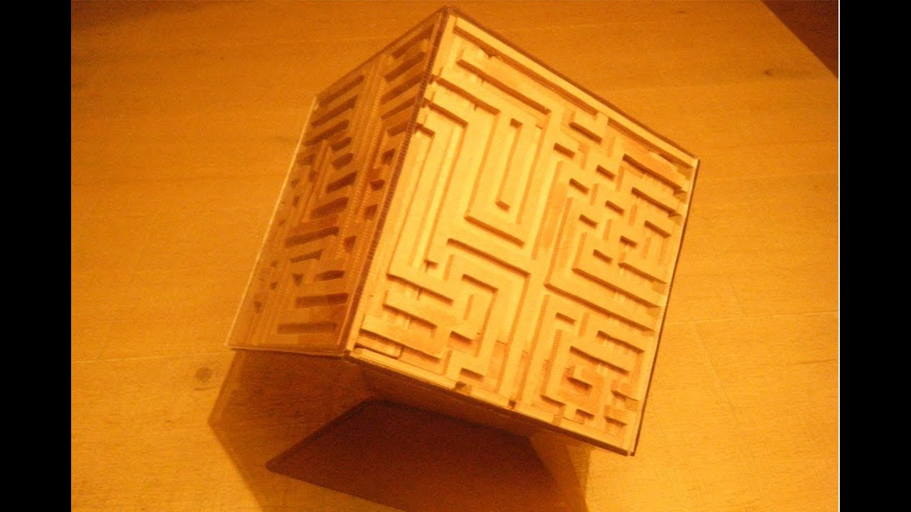 Awesome home made wooden maze puzzle box with free for Awesome money box