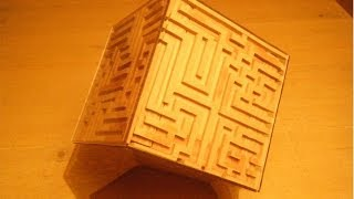 Awesome Home Made Wooden Maze Puzzle Box With Free Screensaver