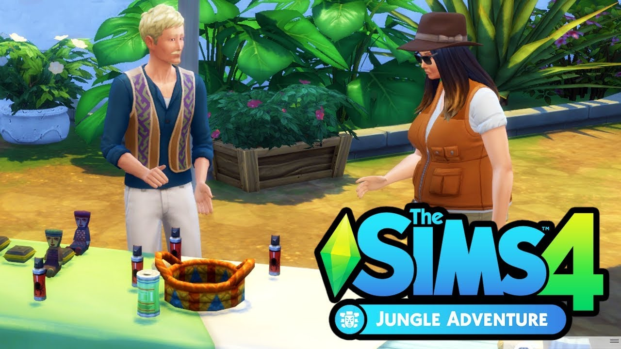 the market the sims 4 jungle adventure part 2 youtube. Black Bedroom Furniture Sets. Home Design Ideas