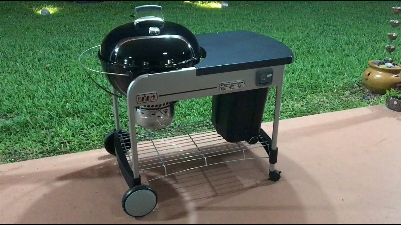 weber 15501001 performer deluxe charcoal grill 22 inch black review youtube. Black Bedroom Furniture Sets. Home Design Ideas