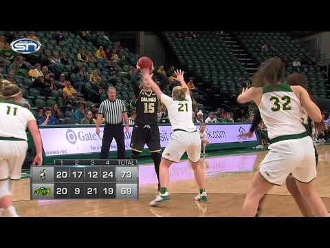 Game Recap: Cal Poly at NDSU women's college basketball 12-16-17