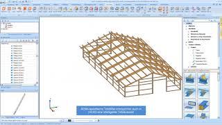 HiCAD & SEMA: OpenBIM with wood und steel