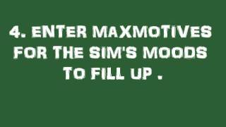3 Quick cheat codes: The sims 2 double deluxe (PC)