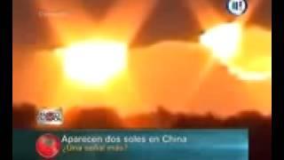 ظهور شمسين فى سماء امريكا وكندا والصين