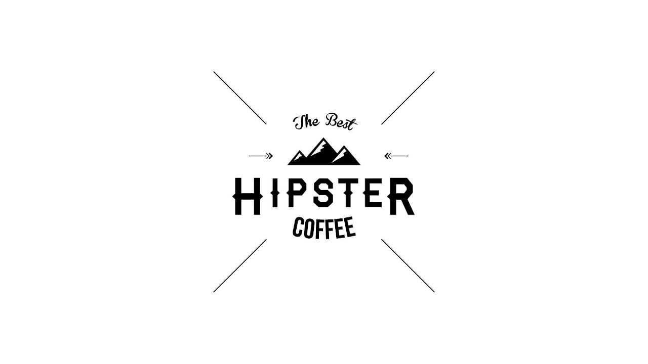 hipster coffee logo animation - YouTube