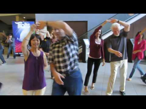 Calgary International Flashmob West Coast Swing 2016 At Landmark Cinemas 10