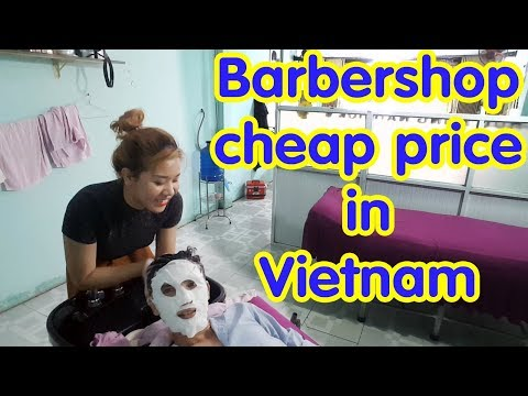 Vietnam Barbershop Massage Face & Wash Hair Cheap Price in Ho Chi Minh City