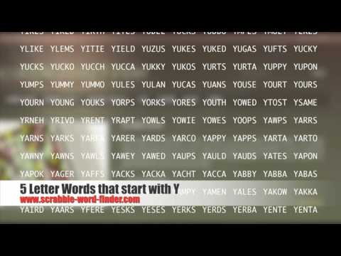 5 letter words that start with Y