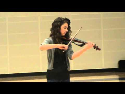 7th grade talent show - Electric Violin Medley - Carmen Lady Gaga AC/DC