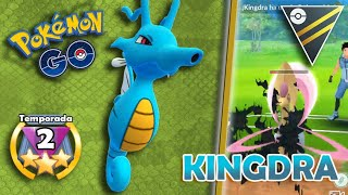 KINGDRA BAITEA y DESTROZA A ENFADOS a TODOS en LIGA 2500 ! Go Battle League PvP Pokemon GO