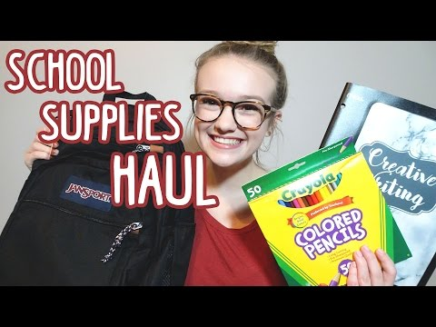 Back to School: Supply Haul for Senior Year + Custom Binder DIY