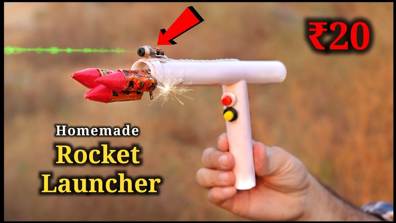 100% Safe Diwali Gadget || How to Make Electric Rocket Launcher || Diwali Ideas