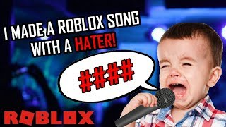I put my biggest hater on a rap... (Roblox Story)