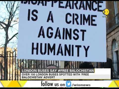 London buses carry adverts saying #Free Balochistan