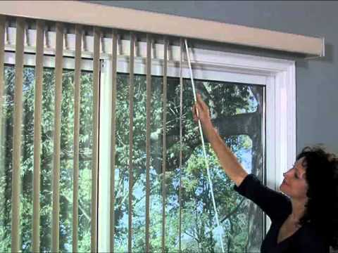 Bali Vertical Blinds - One Touch Wand Control:  Blind and Shade Control Types