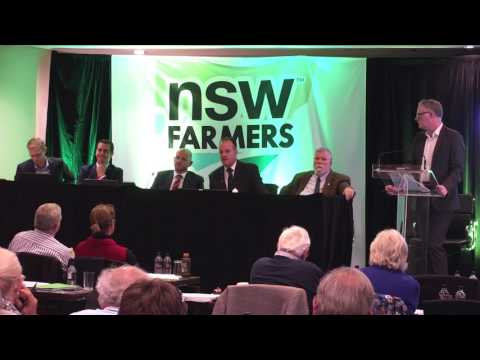 The Future of Regional NSW & Our Agricultural Industry. A NSW Farmers Conference Panel Session
