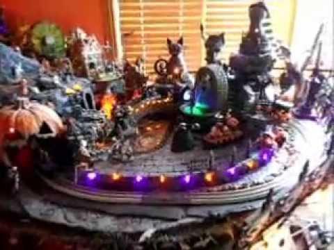 Dept 56 Halloween Village and Jack Skellington Train - YouTube
