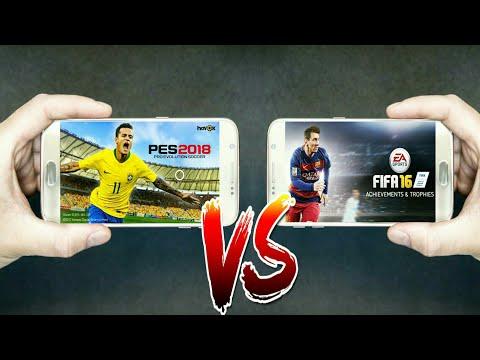 PES2018 Mobile Vs FIFA16 Mobile