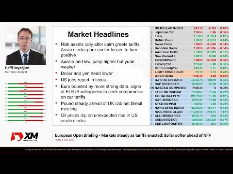 Forex News: 06/07/2018 - Markets steady as tariffs enacted; dollar softer ahead of NFP