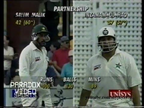 Inzamam & Saleem Malik 258 runs #Partnership Vs New zealand at Wellington 1994