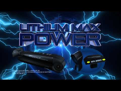 MANGROOMER LITHIUM MAX® PLUS+ Back Shaver with New Extra-Wide Blade Design And Power Burst®