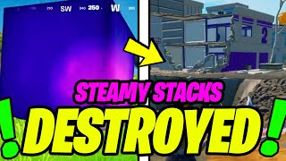 RIP STEAMY STACKS - DESTROYED IN-GAME & NEW CUBE EVENT (Fortnite)