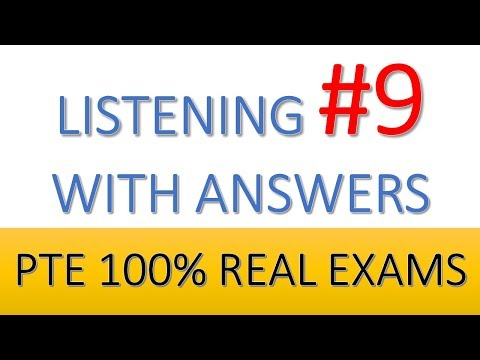 PTE Practice Listening 9 from real test questions with answers - YouTube