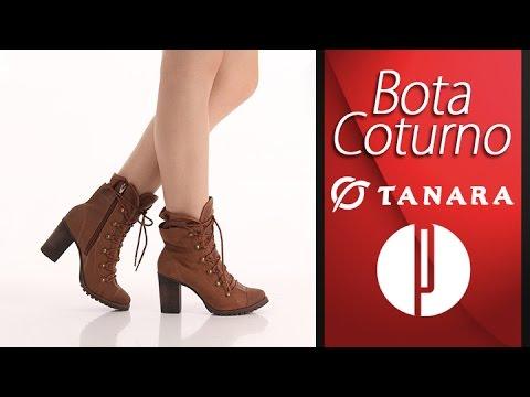 82cb0b0d4a7 Bota Coturno Feminina Tanara - Caramelo - 6010402383 - YouTube