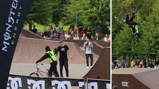 kuldrula 2016 security guard backflip on a bmx bike 4k