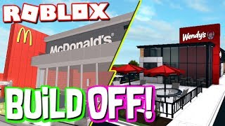 RESTAURANT BUILD OFF FOR $100K! (Roblox Bloxburg)