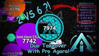 agar io guest video 1 by a i clan 2 vs 6