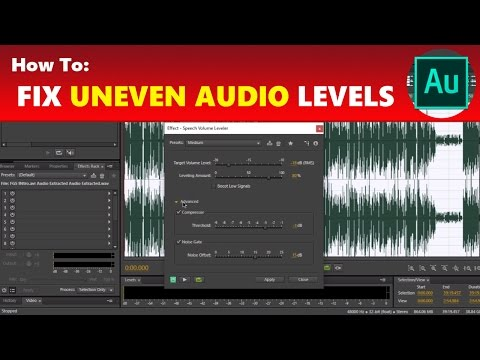 How To: Fix Unequal & Uneven Audio Volume Levels in Adobe Audition | Using Adobe Audition Tutorial
