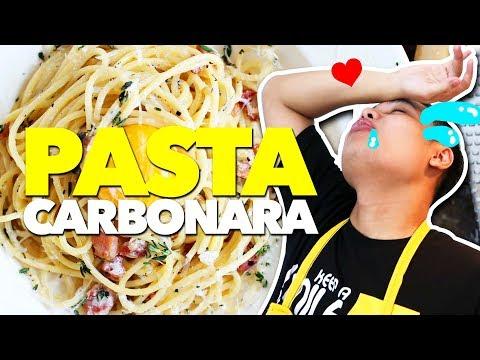 MASAK SPAGHETTI CARBONARA ! ♥