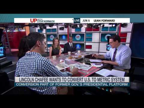 Lincoln Chafee raises eyebrows with call for the metric system