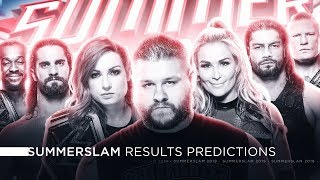 WWE Summerslam 2019 - Results Predictions