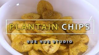 HOW TO MAKE A PLANTAIN CHIPS [RECIPE] 바삭한 바나나 칩 만들기