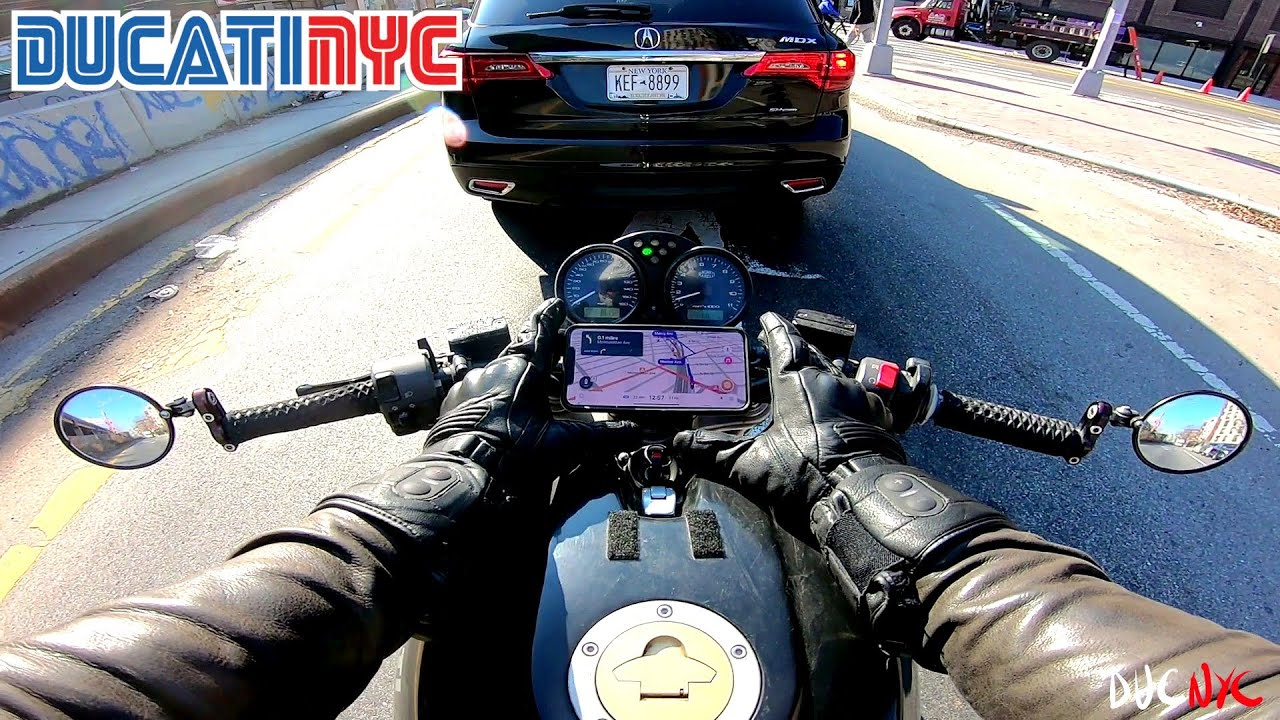 Charging and Barging | Downtown Brooklyn on my Ducati Monster 620 | DucatiNYC v1402