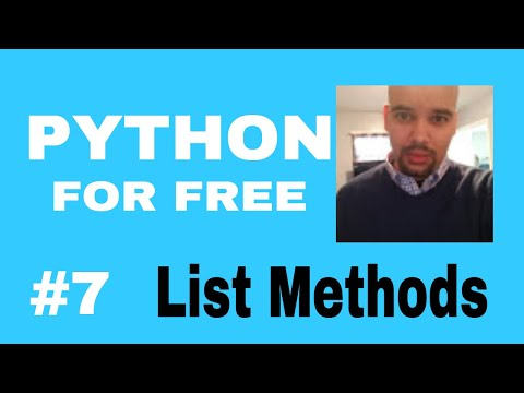 Learn Python for High Paying Job Free Course #7 list methods