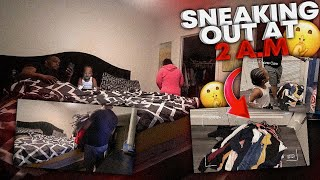 SNEAKING OUT THE HOUSE PRANK ON DUB & WOOWOP